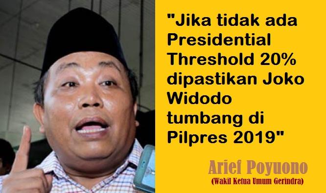 Wakil Ketua Umum Gerindra, Arief Poyuono. Ilustrasi Foto: NUSANTARANEWS.CO