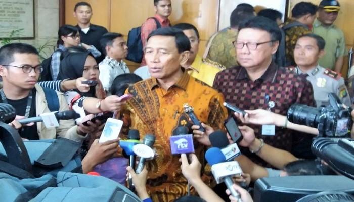 Menteri Koordinator Bidang Politik Hukum dan Keamanan Wiranto. (FOTO: NUSANTARANEWS.CO/RF)