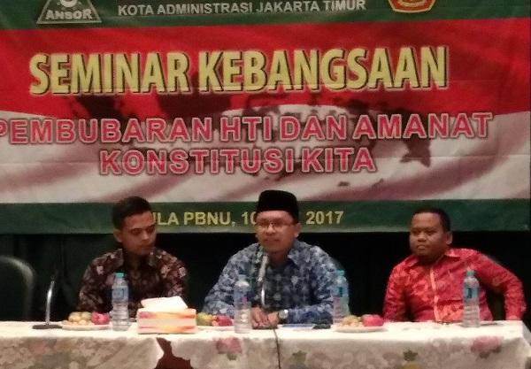 Zuhairi Misrawi isi Seminar Kebangsaan PC GP Ansor Jakarta Timur/Foto Sulaiman/Nusantaranews