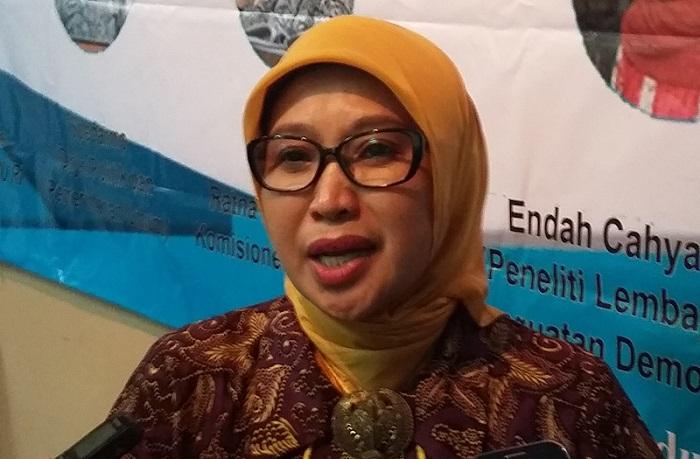 Anggota Bawaslu RI Ratna Dewi Pettalolo. Foto Ucok Al Ayubbi/ NusantaraNews.co