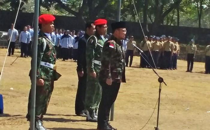 Dahnil Simanjuntak Bersama Ribuan Warga Muhammadiyah Ponorogo Gelar Apel Kebangsaan. Foto Muh Nurcholis/ Nusantaranews.co