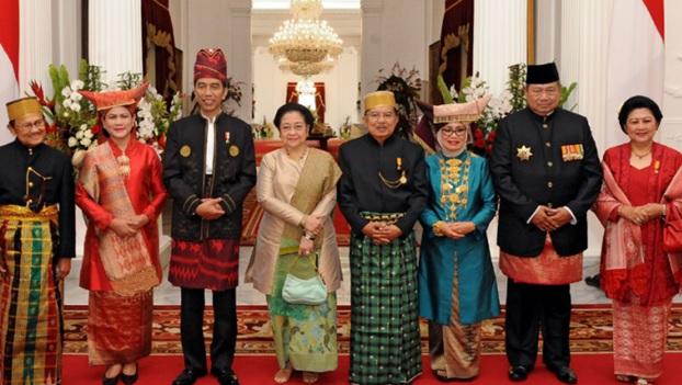 3 Mantan Presiden bersama Presiden Jokowi di Istana. Foto Istimewa