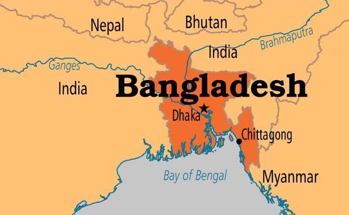 Peta Bangladesh/Foto Istimewa/Nusantaranews