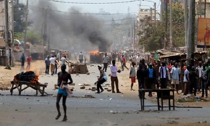 Bentrokan di Kenya. Foto Baz Ratner/ Reuters