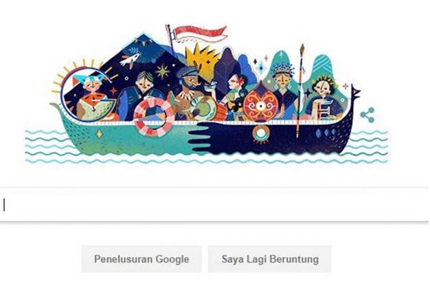 Google Doodle yang Digambar Artis Tanah Air. Foto Istimewa