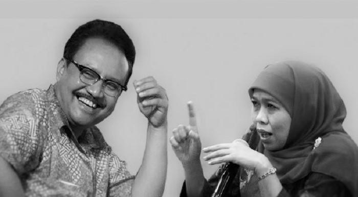 Gus Ipul dan Khofifah. Ilustrasi: NusantaraNews.co via inilah.com