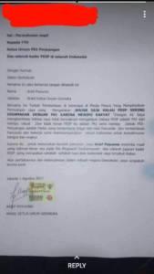 Surat Resmi Waketum Gerindra Arief Poyuono yang berisi permintaan maaf kepada Ketua Umum PDIP dan Seluruh Kader PDIP di seluruh Indonesia. Salinan Surat: Istimewa