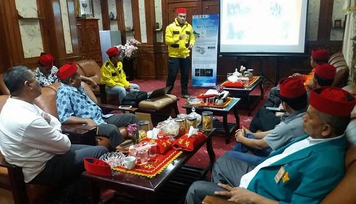 Audensi Tim PKM Prodi Teknik Geologi Unsyiah dengan Pemerintah Pidie. Foto Najmi