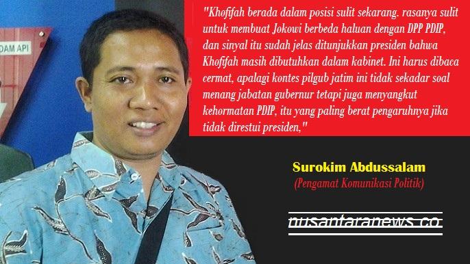 Pengamat Komunikasi Politik, Surokim Abdussalam. Foto Tri Wahyudi/ Ilustrasi: NusantaraNews.co