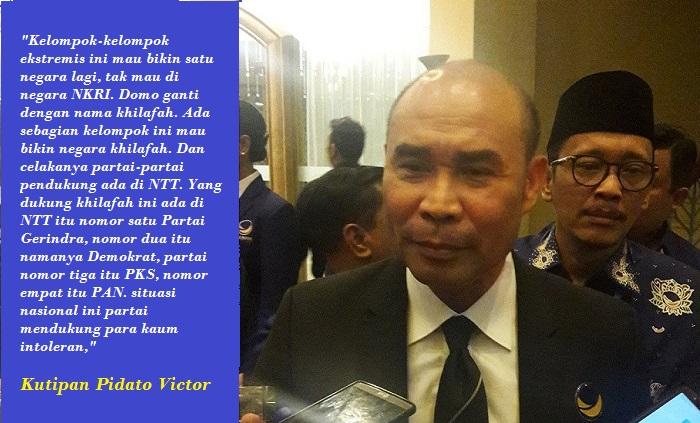 Ketua Fraksi Nasdem Victor Laiskodat. Foto: Tri Wahyudi/ NUSANTARANEWS.CO