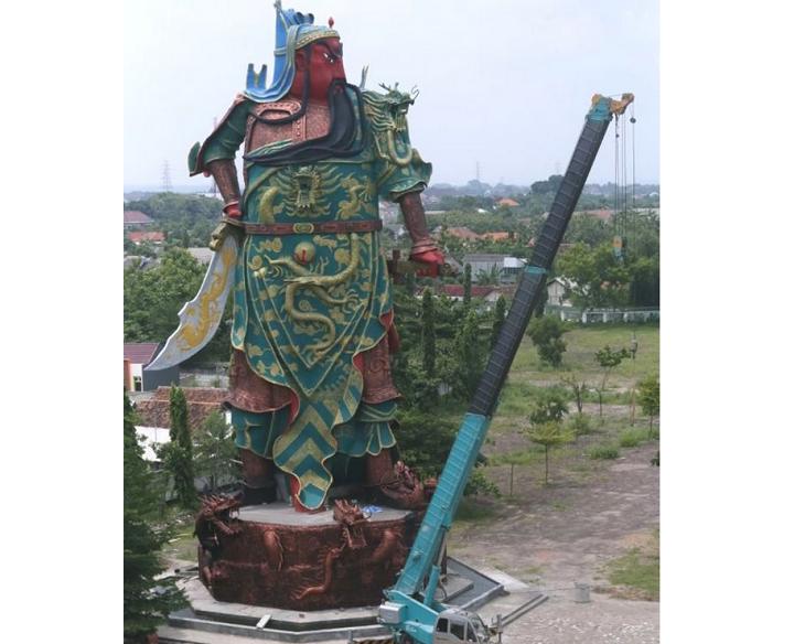 Patung Kwan Sing Tee Koen di Tuban Jawa Timur Foto Croup Nusantaranews