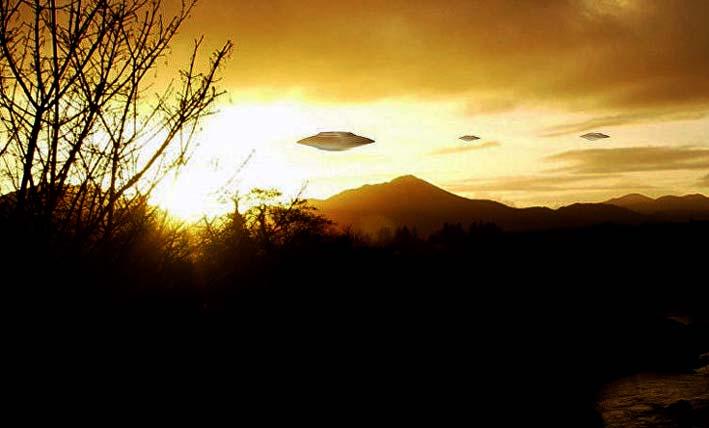 Ilustrasi UFO di Langit Yugoslavia/sumber sputnik