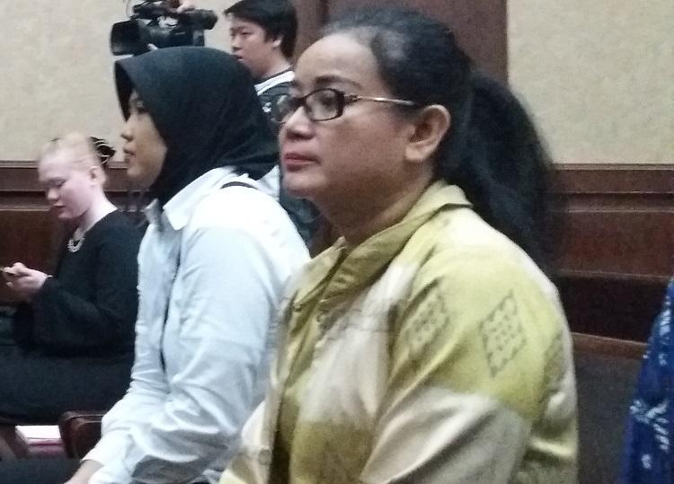 Politikus Hanura Miryam S Haryani divonis 5 tahun penjara oleh Pengadilan Tindak Pidana Korupsi (Tipikor) Jakarta pada Senin (13/11/2017). Foto: Restu Fadilah/NUSANTARANEWS