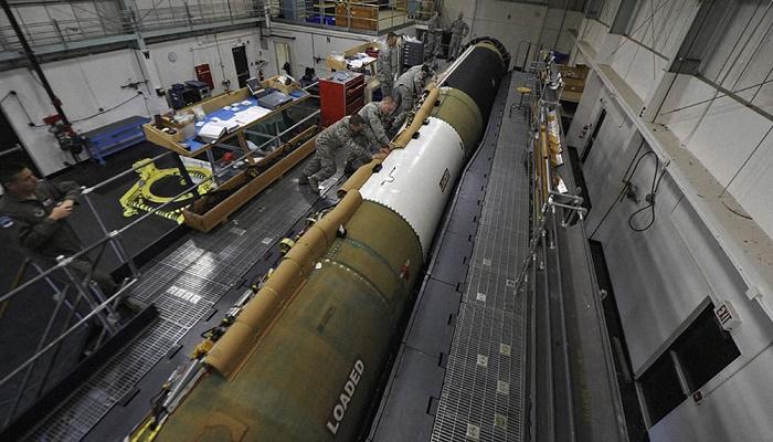 Sistem rudal balistik antariksa Minuteman III Angkatan Udara Amerika Serikat. (Foto: Breaking Defense)