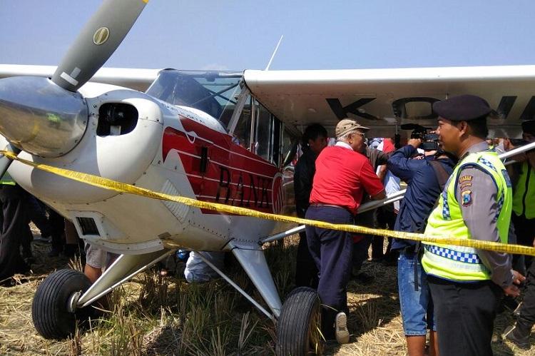 Pesawat jenis Aviat Husky/Foto Nur Kholis/Nusantaranews
