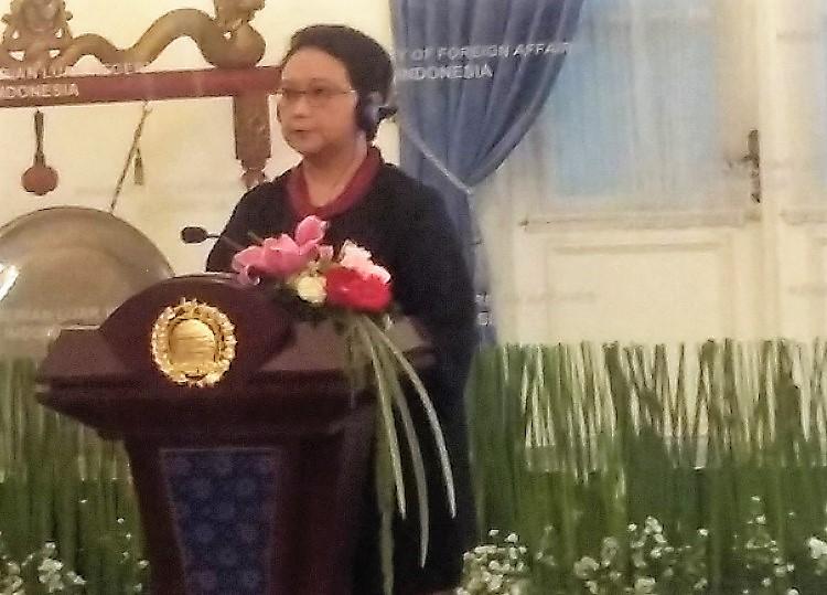 Menlu RI retno Marsudi/Foto Ucok AA/Nusantaranews