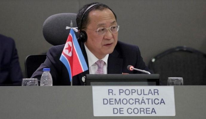 Menteri Luar Negeri Korea Utara, Ri Yong-ho. (Foto: Reuters/Marco Bello)