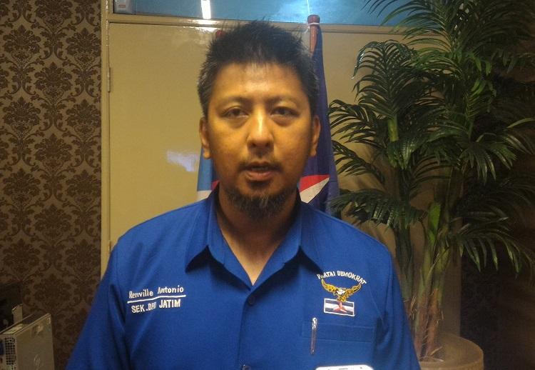 Sekretaris DPD Demokrat Jatim Renville Antonio/Foto Yudhie/Nusantaranews