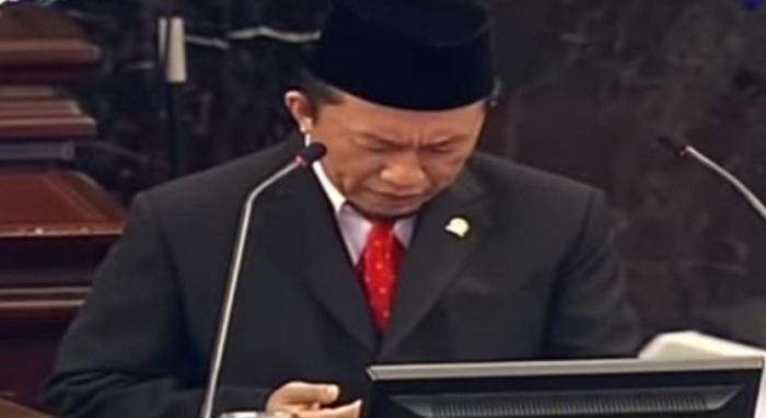 Tifatul Sembiring Datuak Tumangguang saat membakan doa pada Sidang Tahunan MPR-RI 2017, Rabu, 16 Agustus 2017. Foto: YouTube