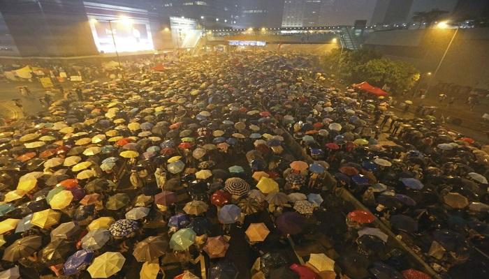 Revolusi Payung (Umbrella Movement), aktivis pro demokrasi Hong Kong. (Foto: AP)