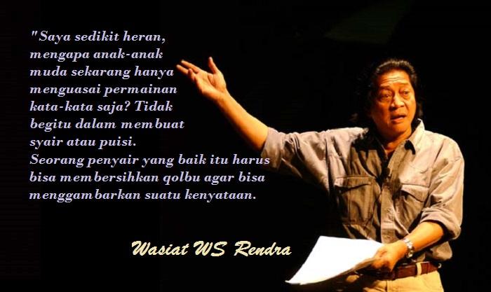 WS Rendra. Ilustrasi: NusantaraNews.co