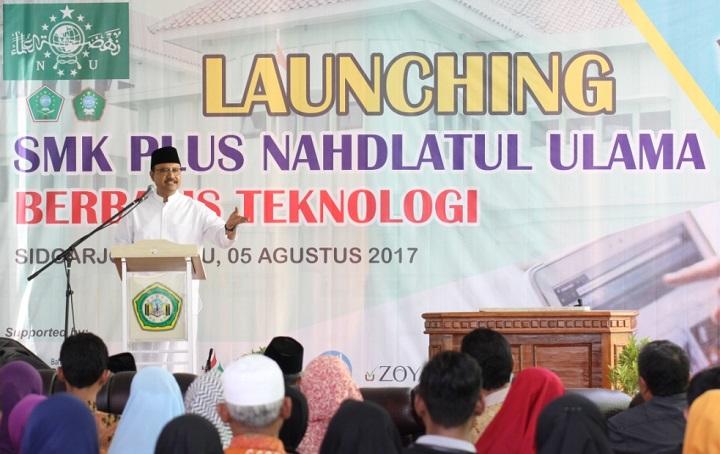 Wakil Gubernur Prov Jatim Launching SMK Plus NU Di Bluru Sidoarjo/Foto Tri Wahyudi/Nusantaranews