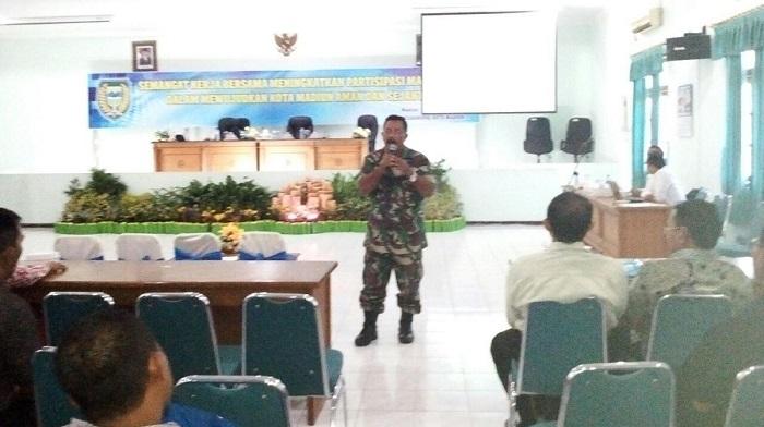 Danramil 0803/01 Taman Kapten Inf Waluyo. Foto mc0803/ NusantaraNews.co