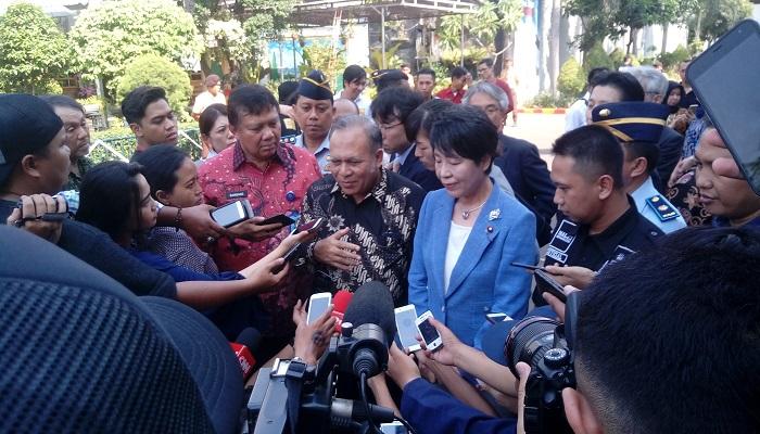 Menteri Kehakiman Jepang Yoko Kamikawa mengunjungi Lapas Klas IIA Narkotika Jakarta, Cipinang, Jakarta Timur. (Foto: Richard Andika/NusantaraNews)