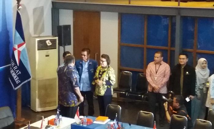 Basaria Pandjaitan di Kantor DPP Partai Demokrat, Jakarta Pusat, Rabu, (13/9/2017). Foto Restu Fadilah/ NusantaraNews.co