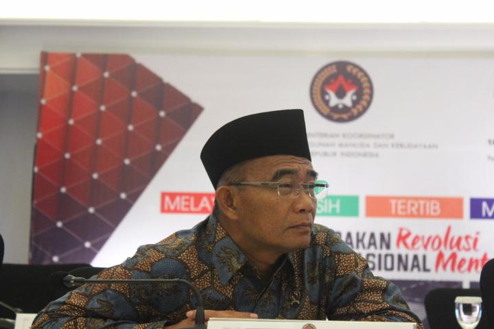 Menteri Pendidikan dan Kebudayaan Muhadjir Effendy.Foto Richard Andika/ NusantaraNews.co