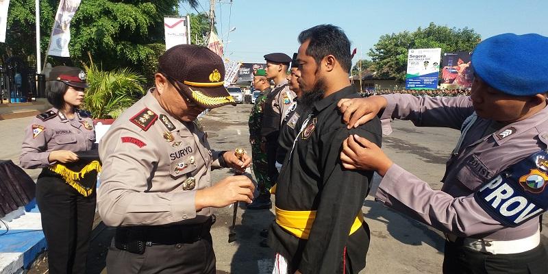 Apel Kesiapsiagaan Aman Suro 2017 di Plataran Paseban Aloon-aloon Utara Ponorogo. (Foto: Muh Nurcholis/NusantaraNews)