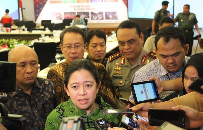 Menteri Puan usai rapat tingkat menteri di kantornya, Kamis (28/9/2017). Foto Richard Andika/ NusantaraNews
