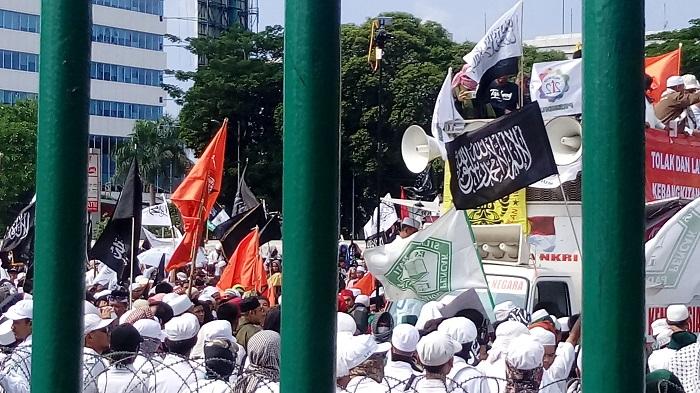 Aksi 299 cabut Perppu Ormas dan Tolak PKI. Foto Richard Andika/ NusantaraNews