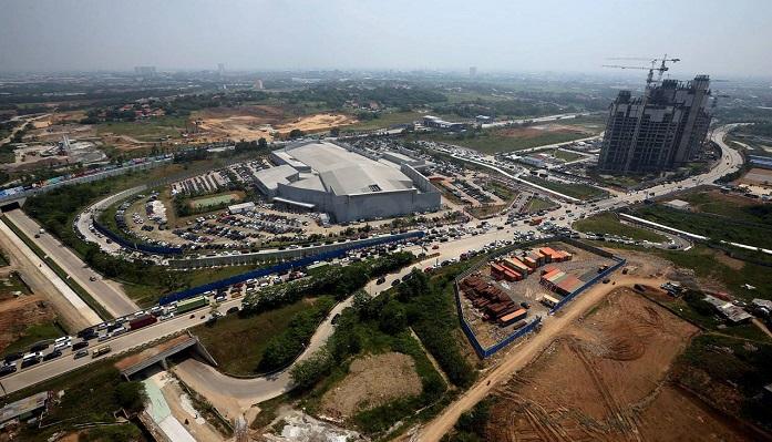 Mega Proyek Meikarta nampak dari Udara. (Foto: Dok. SindoNews)
