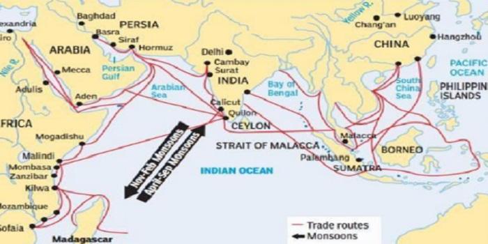 Peta Koridor Pertumbuhan Asia-Afrika (Asia Africa Growth Corridor/AAGC). (Foto: Project Mausam)