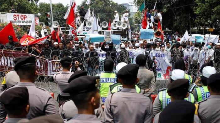 Aksi Bela Rohingya di Sekitar Borobudur. Foto: Dok. REUTERS/Darren Whiteside