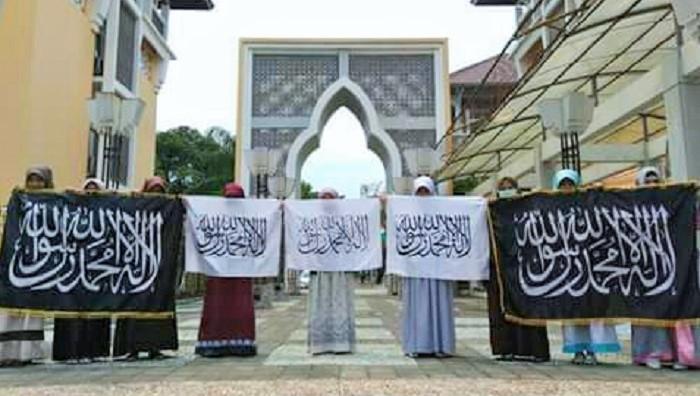 Aksi HTI di UIN Sunan Kalijaga Yogyakarta (ilustrasi). Foto: Istimewa