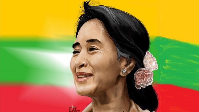 Aung San Suu Kyi. Foto Ilustras: che38.deviantart.com