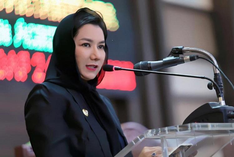 Bupati Kutai Rita Widyasari (Foto Eddy Santri/Nusantaranews)