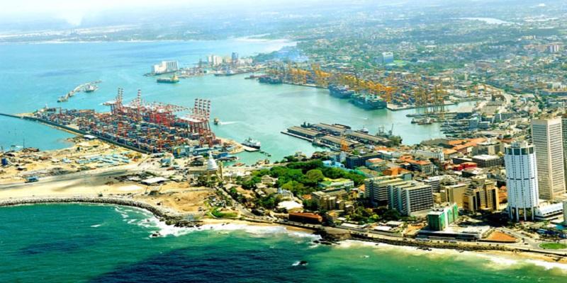 Colombo Port City atau pelabuhan Sri Lanka di pusat kota Colombo. (Foto: Tharushan Fernando/ewsfirst.lk)
