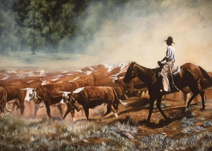 Kehidupan Coboy di Amerika (Ilustrasi). Lukisan: Dok. Pueblo Grande Museum