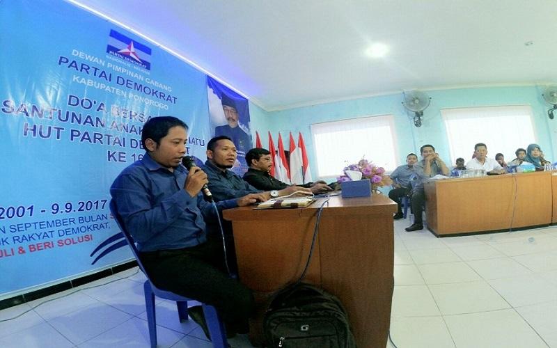 Muda Mudi Demokrat (MMD) Kabupaten Ponorogo. (Foto: Muh Nurcholis/NusantaraNews)