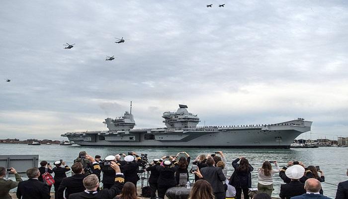Kapal Induk Angkatan Laut Kerajaan Inggris di Portsmouth. (Getty Images)