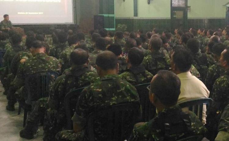 Kegiatan jam komandan (Foto Dok. pribadi/Nusantaranews)