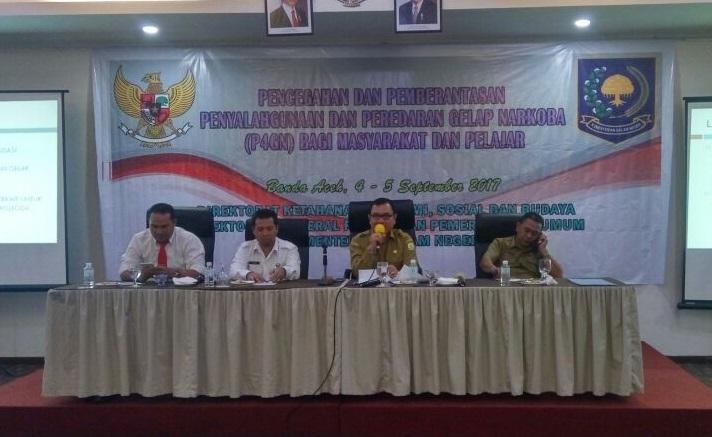 Kesbangpol Aceh bersama Direktorat Ketahanan Ekonomi, Sosial dan Budaya bahas penyalahgunaan narkoba/Foto Najmi/Nusantaranews