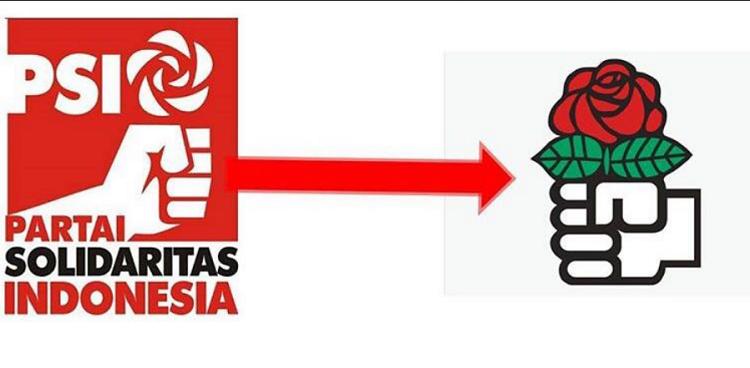 Logo Partai Solidaritas Indonesia (PSI) dengan Logo Sosialis Internasional (Foto Istimewa/Nusantaranews)