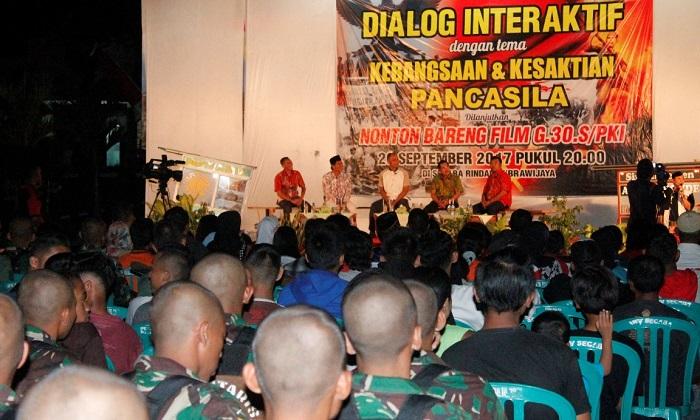 """Dialog Interaktif bertajuk """"Kebangsaan dan Kesaktian Pancasila"""", Jum'at malam (29/09/2017). Foto Sis24/ NusantaraNews"""
