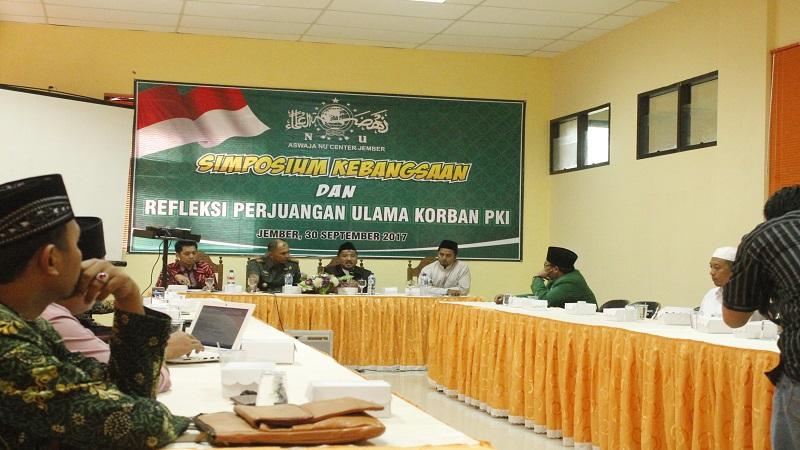 Jember menggelar Simposium Kebangsaan dan Refleksi Perjuangan Ulama Korban PKI 1948 dan 1956. (Foto: Dok. Dim Jember/Istimewa)