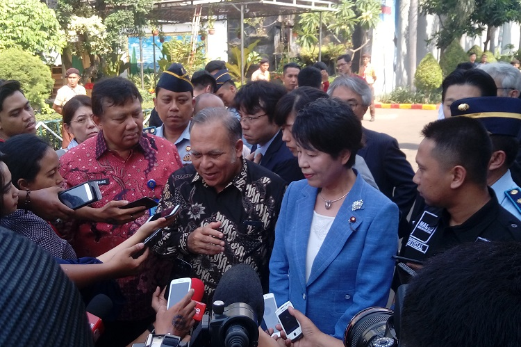 Menteri Kehakiman Jepang Yoko Kamikawa mengunjungi Lapas Klas IIA Narkotika Jakarta, Cipinang, Jakarta Timur. (Foto Richard Andika NusantaraNews)