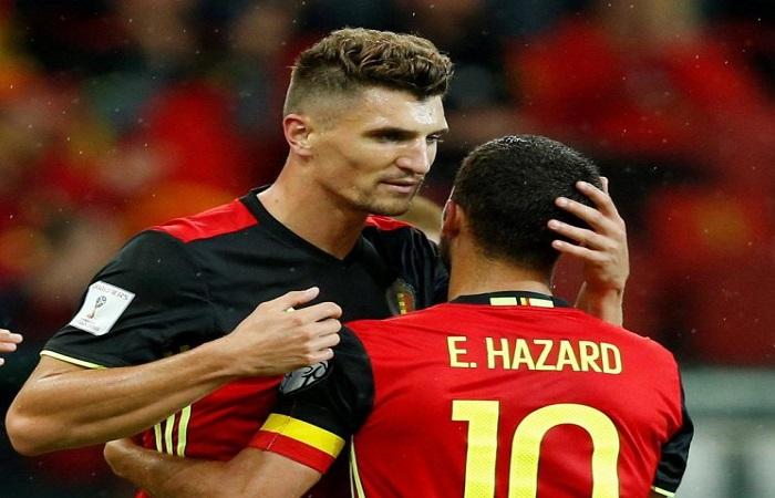 Thomas Meunier telah mendesak rekan setimnya dari Belgia Eden Hazard untuk bergabung dengan PSG. (Foto: Reuters)